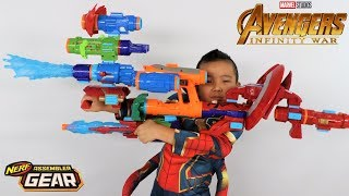Avengers  Nfinity War Toys Nerf GEAR Assembler Test With Ckn Toys