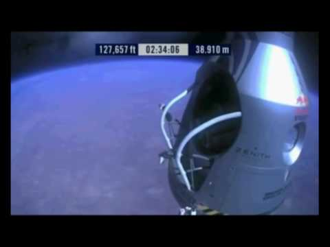 Astronaut of NASA jumps from SPACE!!!