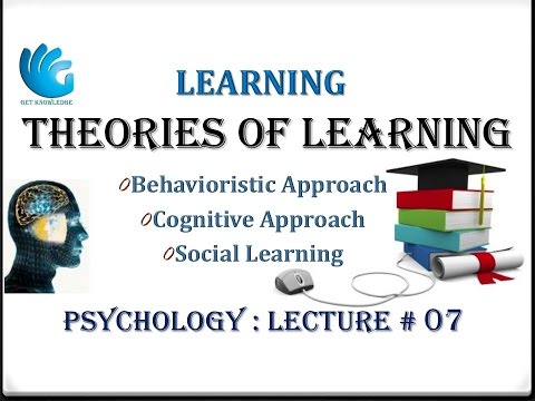 Theories of Learning - Psychology Lecture # 07