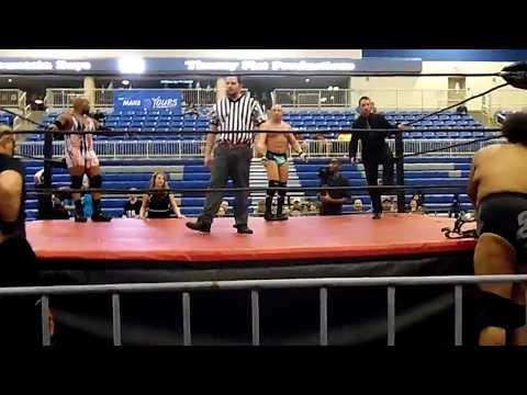 "Damon Divine and ONYX with ""Road Warrior"" Animal VS The barbarian and Kongo Kong with Justn Kace"