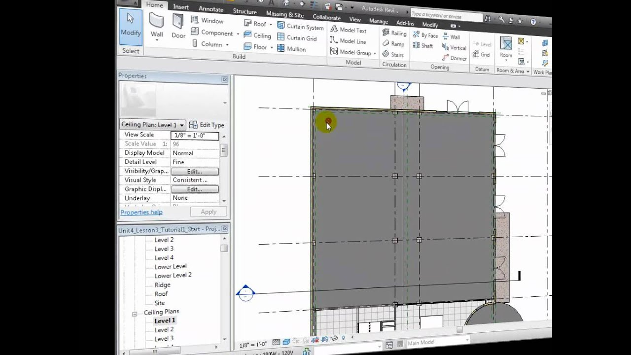 Revit Architecture - Placing Lighting Fixtures in the Architectural Modl - YouTube  sc 1 st  YouTube & Revit Architecture - Placing Lighting Fixtures in the ... azcodes.com