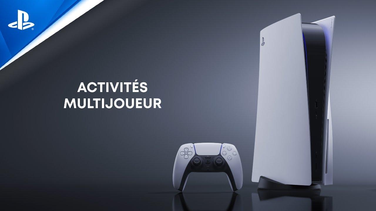 Explorer l'interface utilisateur de la PS5 - Activités multijoueur