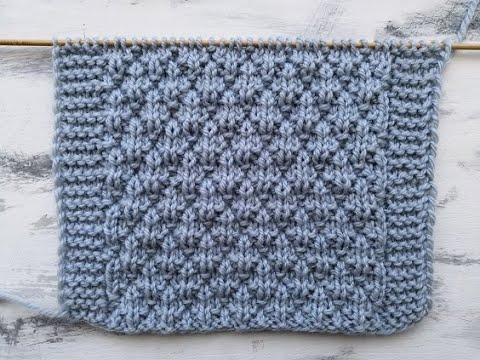 Простой рельефный узор спицами для вязания пледа, свитера, кардигана