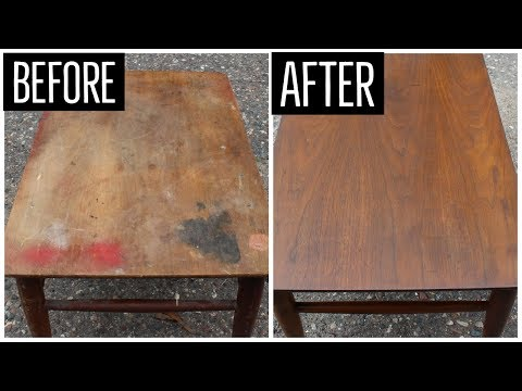 Mid Century End Table Restoration | Furniture Refinishing