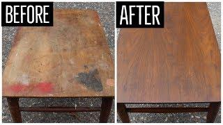 Mid Century End Table Restoration | Furniture Refinishing