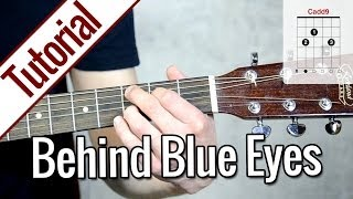 Download Limp Bizkit - Behind Blue Eyes | Gitarren Tutorial Deutsch Mp3 and Videos