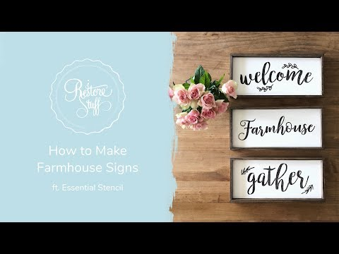 How to Make Farmhouse Signs ft. Essential Stencils