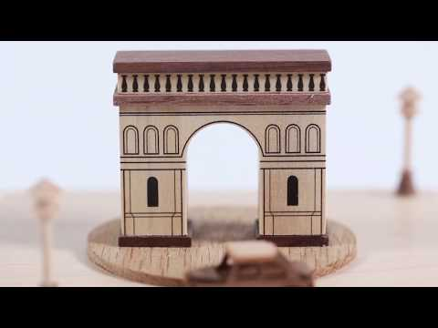 Arch of Triumph Wooden Music Box