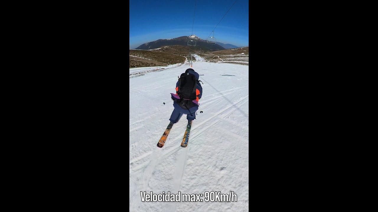 Una bajada en Valdesquí a 90Km/h. #shorts