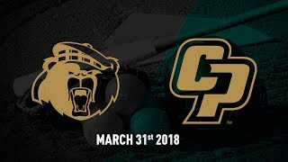 Cal Poly vs. University of California, Riverside, Softball Highlights -- March 31, 2018