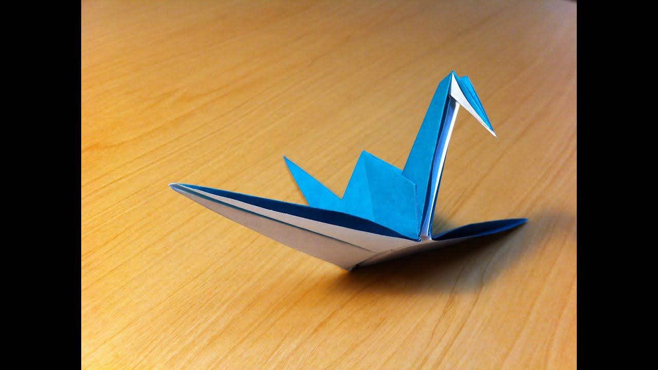 How to make a paper crane origami youtube for How yo make a paper crane
