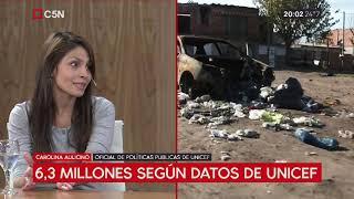 El 48% de los niños argentinos son pobres