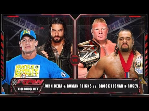 WWE RAW 15 - John Cena & Roman Reigns vs...