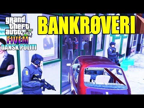 GTA V FIVEM (RP) - BANKRØVERI?! 🏦😥🔫 - DANSK POLITI [#7]
