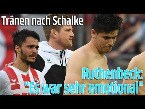 1. FC Köln: Trainer Stefan Ruthenbeck zu Tränen der Spieler nach Spiel gegen Schalke