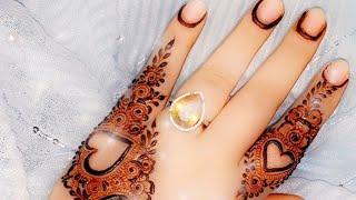 Simple Arabic mehndi design for hand |