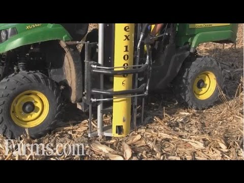 New Wintex 1000S Soil Sampling System on John Deere Gator In Action