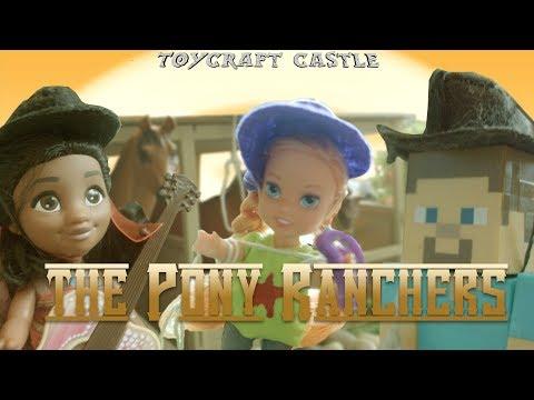 TC - The Pony Ranchers - With Elsia Annia Momo Moana Steve Elsa Frozen Minecraft