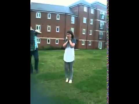 Girls jaw locks up doing ALS ice bucket challenge