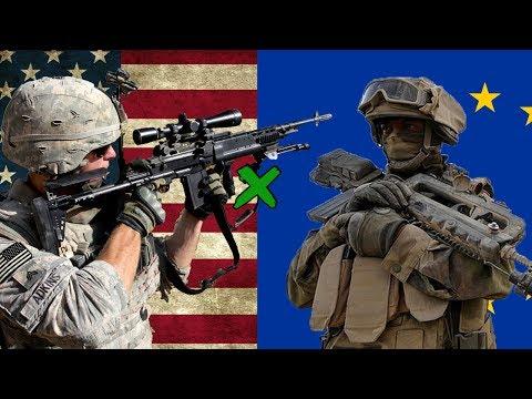 EUA x União Europeia - Comparação Militar