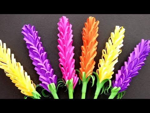 How to make Beautiful lavender paper flowers | Very Easy DIY Crafts