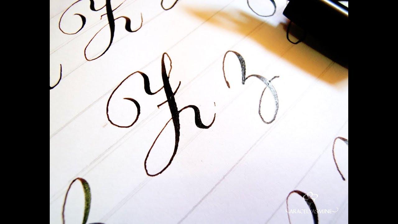 Serie Caligrafia Copperplate Cómo Escribir La Letra Z Paso A Paso