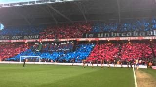 Great Mosaic Display Before Crystal Palace Play Manchester United