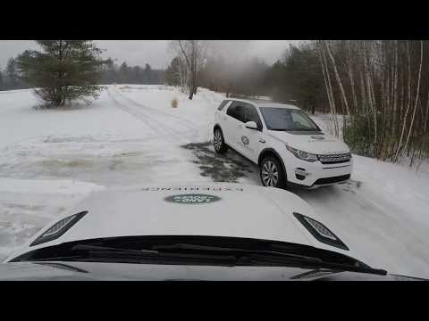 Range Rover Sport Offroading in a Foot of Snow in the Rain