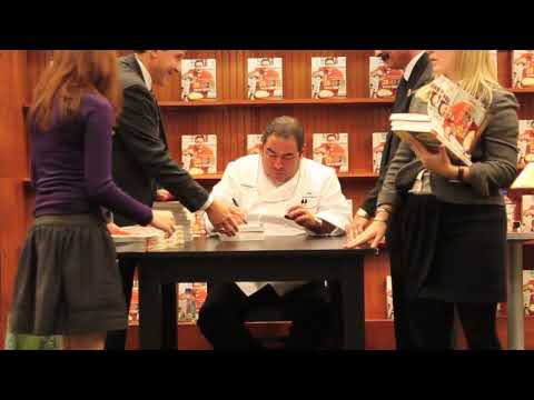 Emeril Lagasse signing his new book 20  40  60