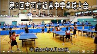 第3回古河市近県中学卓球大会 平成24年8月22日