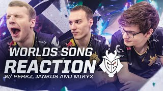 Worlds Song Reaction With Perkz, Jankos and Mikyx