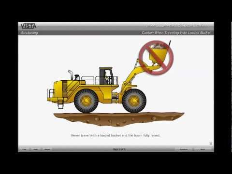 How to stockpile material with a wheel loader