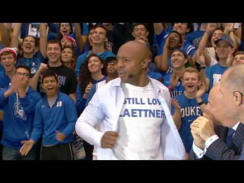 Jay Williams fires up the Duke crowd with his pick