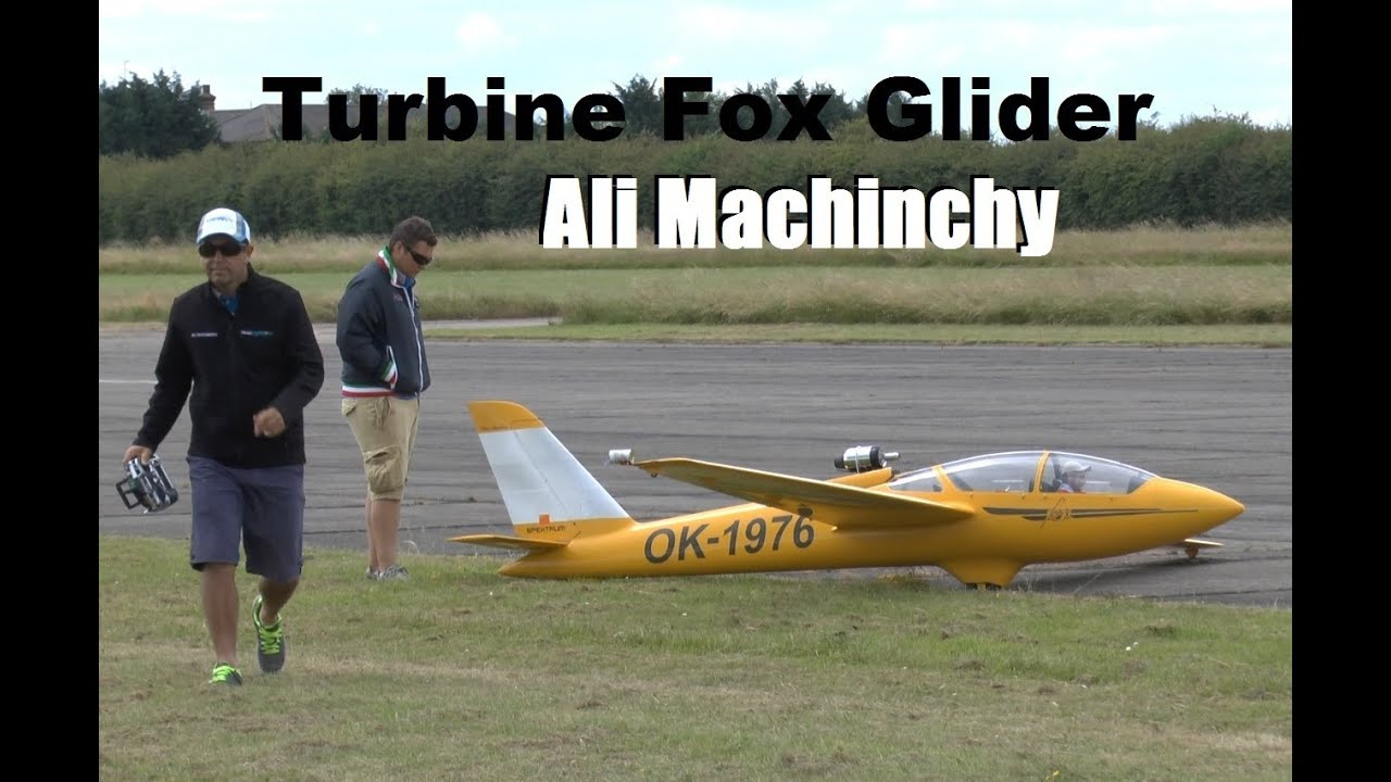 LARGE RC TURBINE FOX GLIDER (ALI MACHINCHY): WINGS AND WHEELS MODEL SHOW  2014