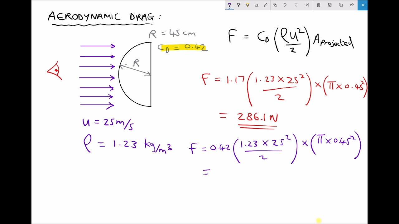 how to calculate force from wind speed