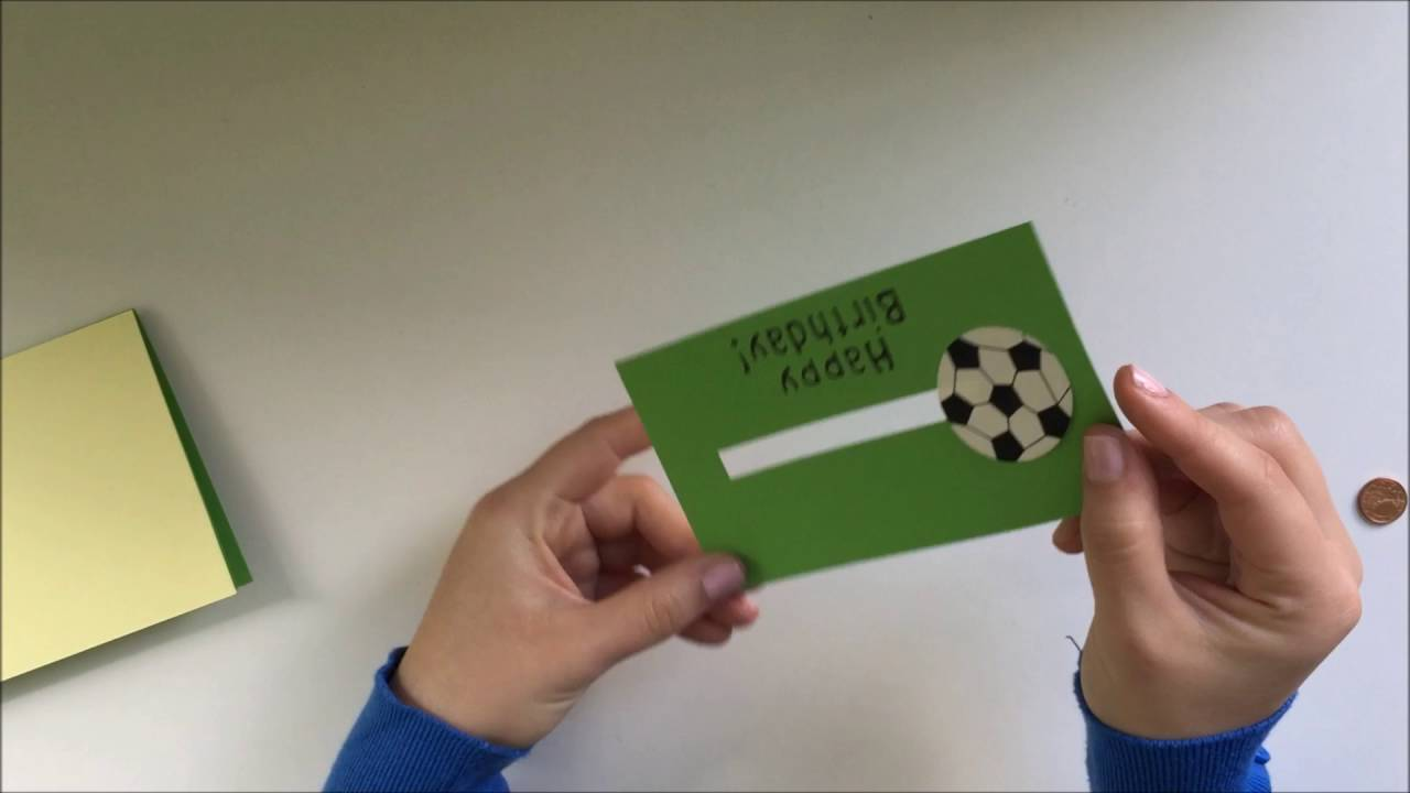 Diy Fussball Karte Youtube