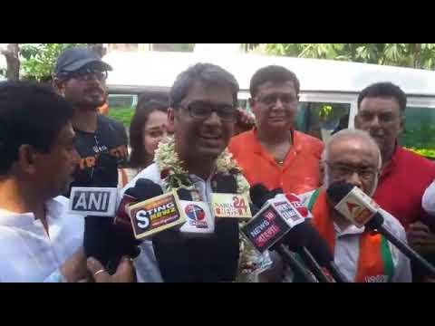 BJP candidate of Krishnanagar file nomination for LS poll