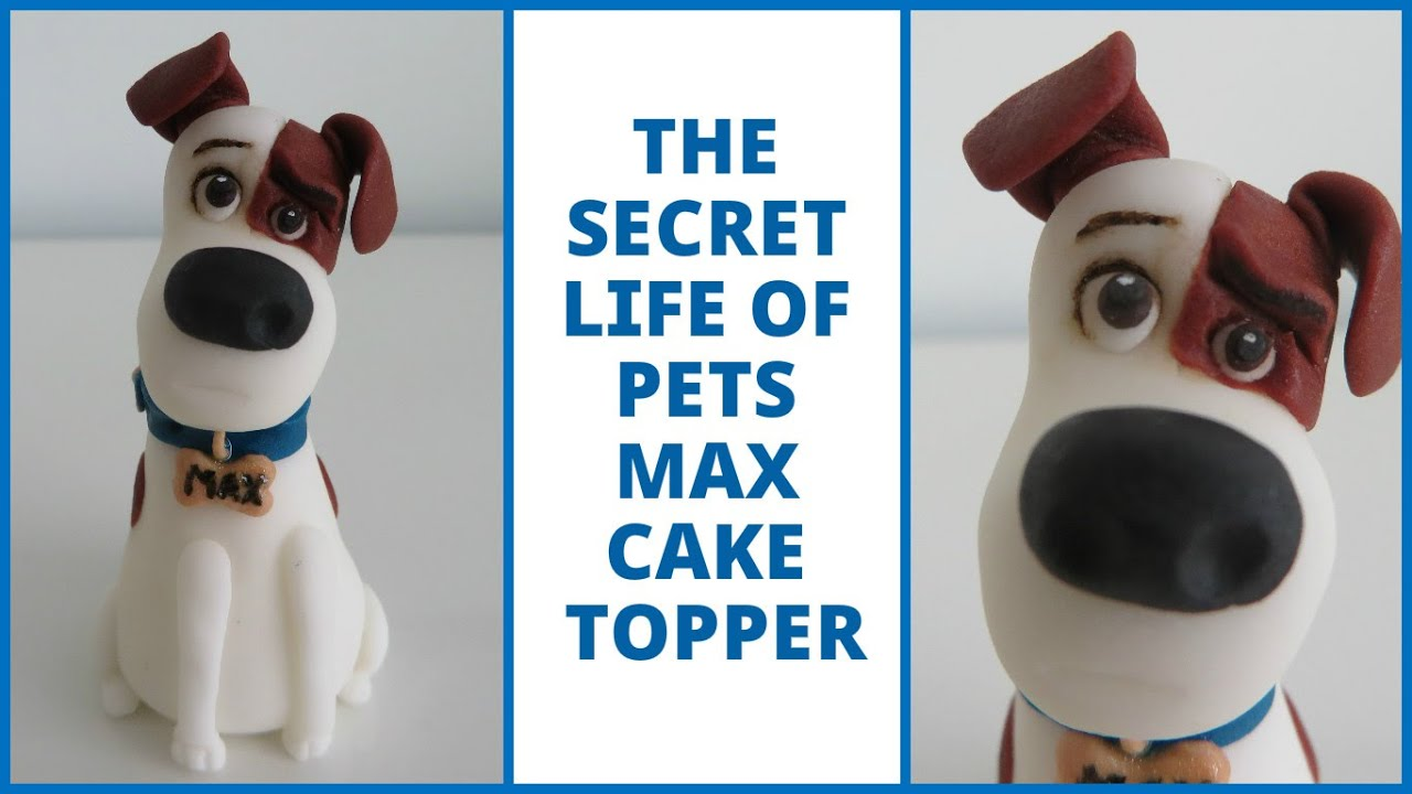 how to make a fondant dog cake topper