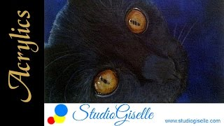 Acrylic Cat Speed Painting
