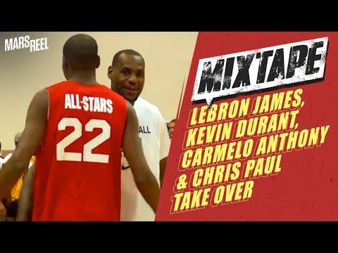 LeBron James, Kevin Durant, Carmelo Anthony & Chris Paul Take OVER Goodman Vs. Melo League Showdown!