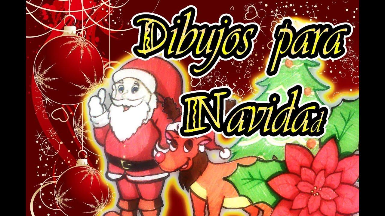 Dibujos para navidad (Santa Claus, Reno navideño, Nochebuena y ...