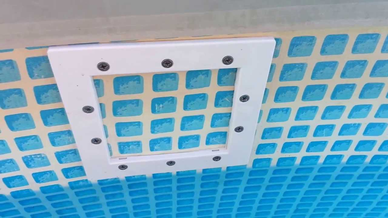 Installing A Thru Wall Skimmer In An Intex Pool Youtube