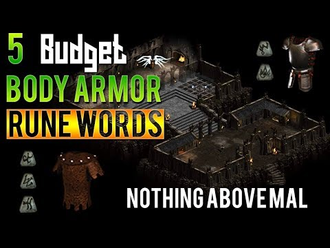 Diablo 2 - 5 Budget Body Armor Rune Words For New Players