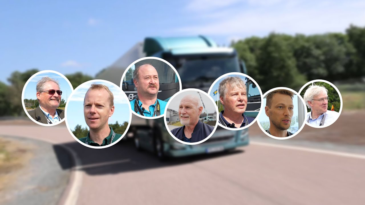 """Volvo Trucks – Journalists test drive our new electric trucks """"The acceleration is very impressive"""""""