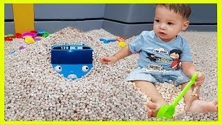 Kids Playing with Sands in Super Wings Kids Indoor Playground