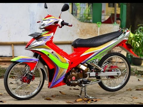 Motor Trend Modifikasi | Video Modifikasi Motor Yamaha  Jupiter MX Airbrush Terbaru Part 3