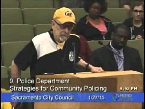 Police Protesters at Sacramento City Council