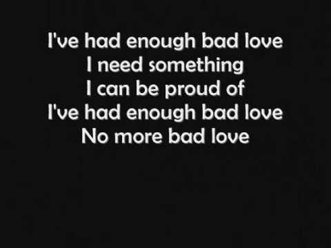 Eric Clapton  Bad Love LYRICS