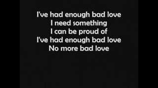 Eric Clapton - Bad Love (LYRICS)