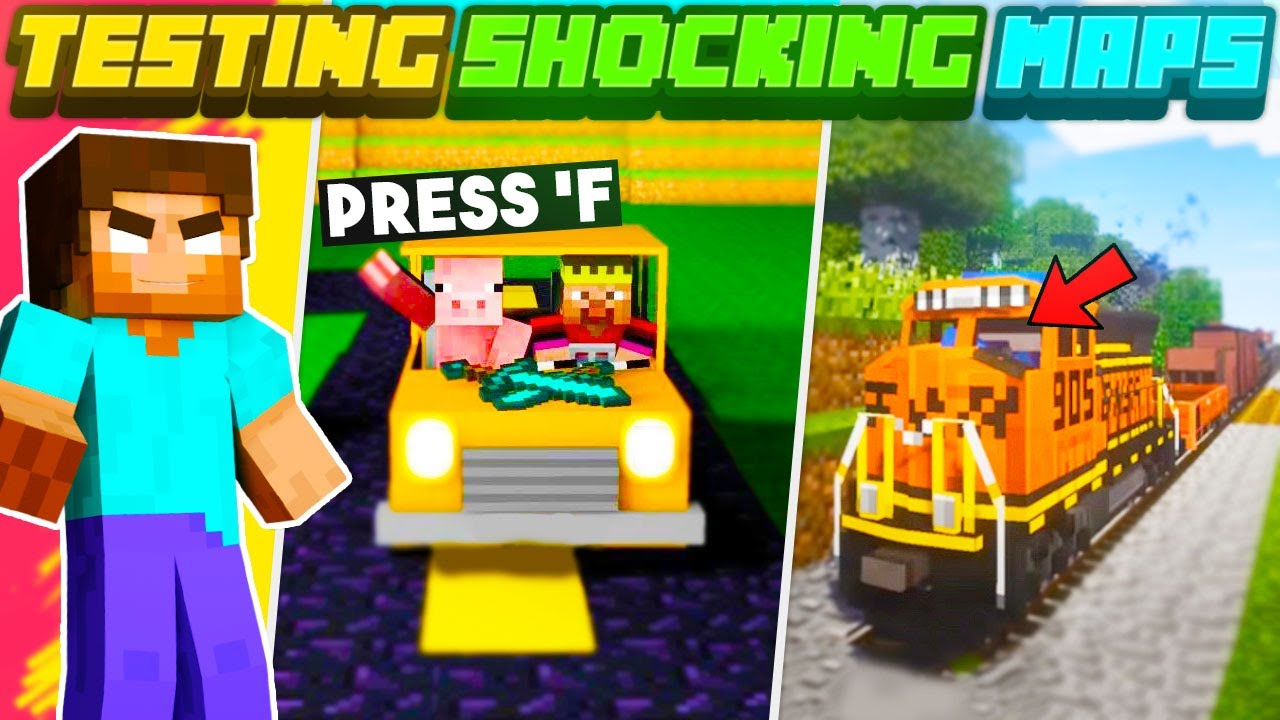 Trying *SHOCKING* Maps 😱 In MINECRAFT That You Won't BELIEVE Are Real